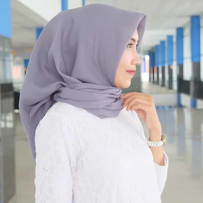 Cara Memakai Hijab Segi Empat Gaya Kontemporer