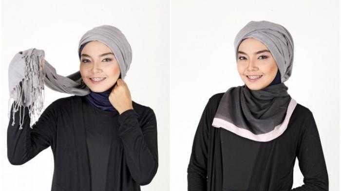 Kreasi Memakai Hijab Pashmina Turban Sederhana