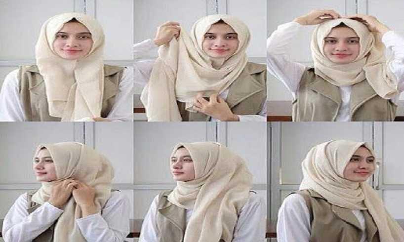Kumpulan Tutorial Hijab Segi Empat Terbaru dan Trendy