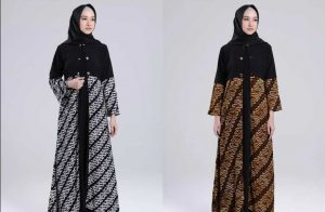 Ladies, Ini Trend Model Baju Gamis Batik Kombinasi Sifon