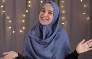 Tutorial Hijab Menutup Dada Dari Pashmina Segi Panjang