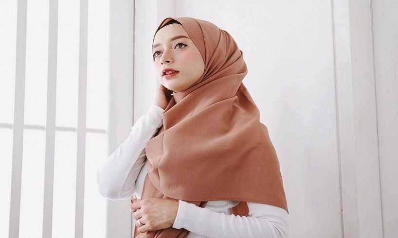 Tutorial hijab pashmina kusut simple